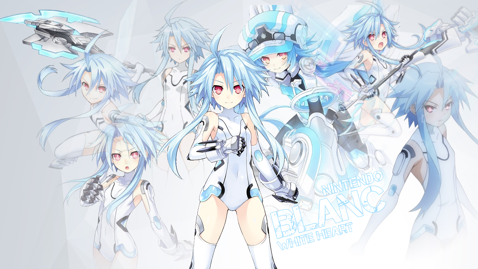 Hyperdimension Neptunia Blanc Wallpaper Ver2 By Tsadeek On