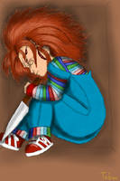 Sleeping Chucky In a Box by Taboochildsplay