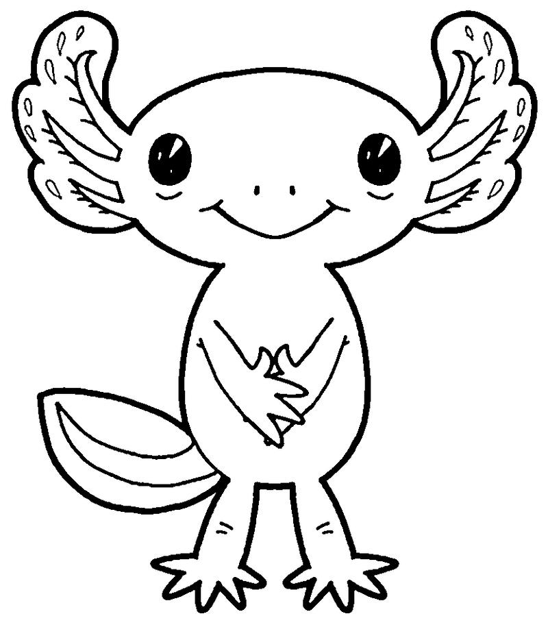 Color Me!   Cute Axolotl By MisterBug ...