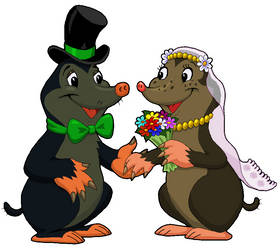 Mole's Wedding Clipart by MisterBug