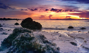 Sunset with Rocky Shores