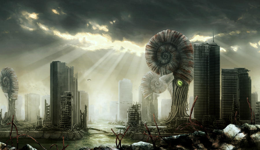 Post Apocalyptic City By Petersiegl On Deviantart