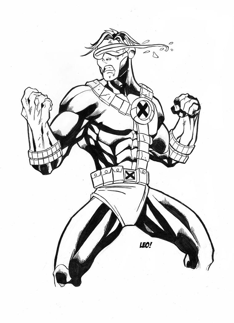 Cyclops sketch ink version by SpideyCreed on DeviantArt X Men Coloring Pages Cyclops