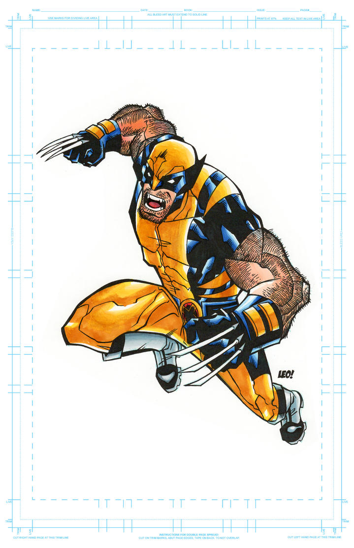 Wolverine Copic Markers by SpideyCreed