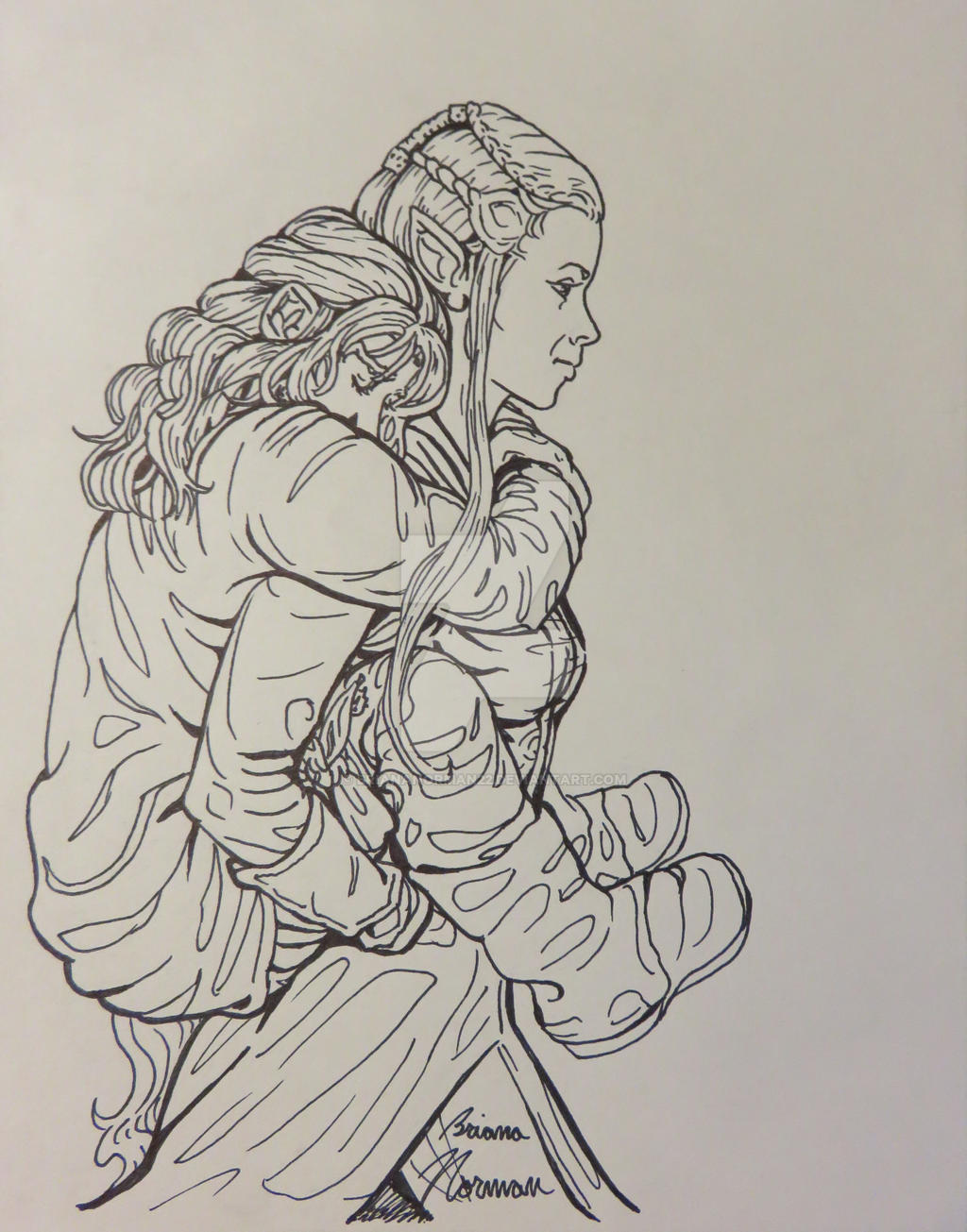 Kili And Tauriel Piggyback By BrianaNorman22 On DeviantArt