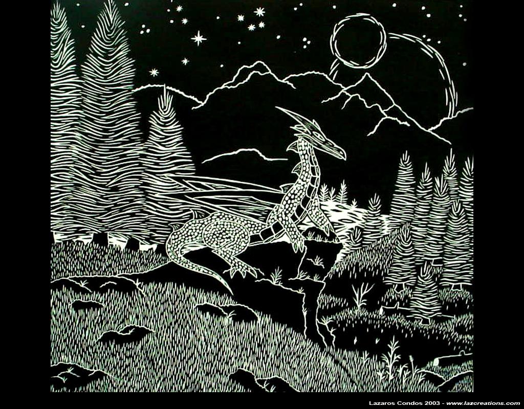 lino dragon print 2 by lazcreations on deviantart