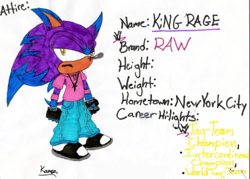 WWE: KiNG RAGE by RageTheHedgehog
