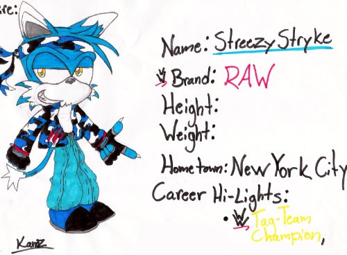 WWE: Streezy Stryke by RageTheHedgehog
