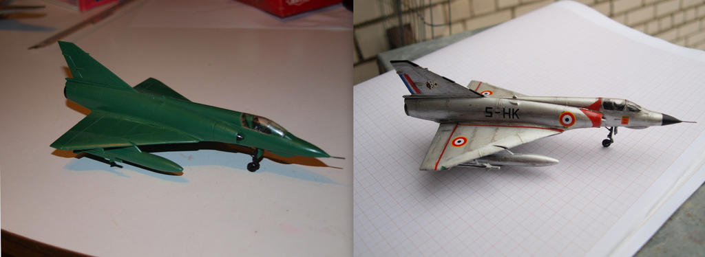 Mirage III before and after by rihosk