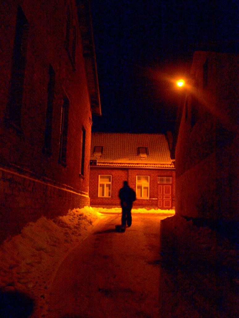 Rakvere street in night by rihosk