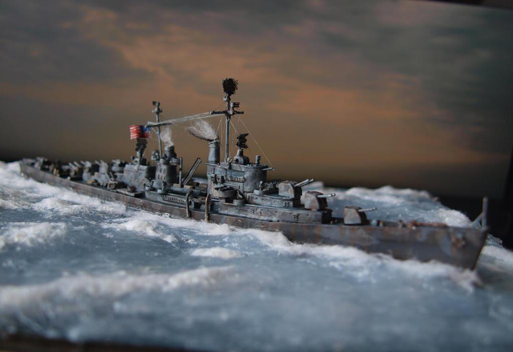 USS San Diego CL-53 and sky by rihosk