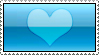 Aqua Heart Stamp by AHMED-ART