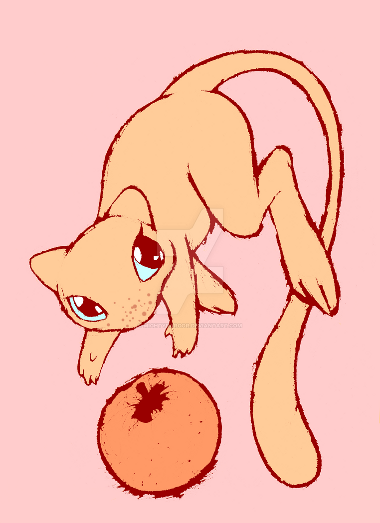 Mew in Orange by MightyDargor