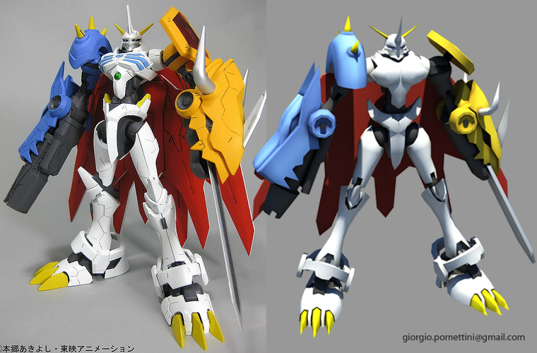 Omegamon WIP Texturing by MightyDargor