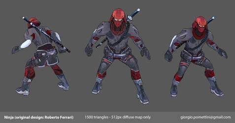Game-Ready Lowpoly Ninja by MightyDargor