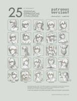 25 Expressions: Samireh by patronustrip