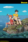 Ponyo and Sosuke on the Cliff