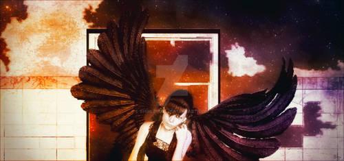 Angel with tears
