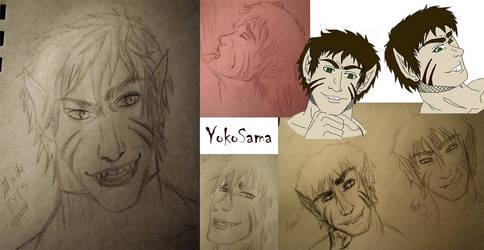 Kar faces doodles by YokoSama