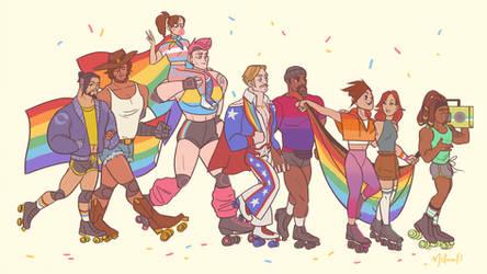 Overwatch Roller Derbie Pride