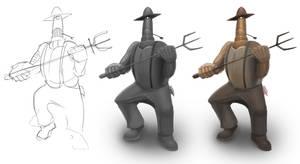 Farmer Robot by Cruiser18