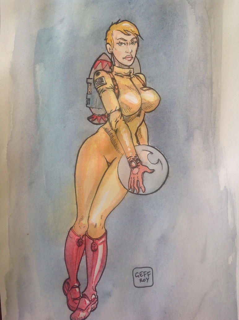 21th century pin-up by Geffroy