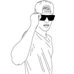 Bizzle (outline drawing) by JustineLovesBieber