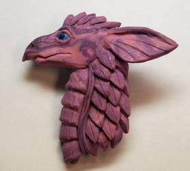 Purple Dragon brooch