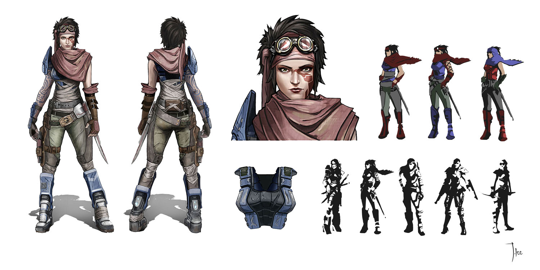 Single Line Character Art : Borderlands character design by leejj on deviantart