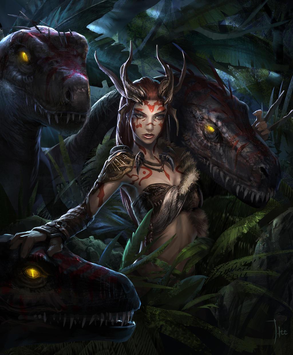 raptor queen by LeeJJ