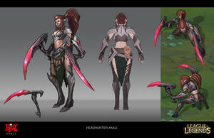 Headhunter Akali Concept by LeeJJ
