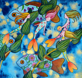 Blooming mermaids