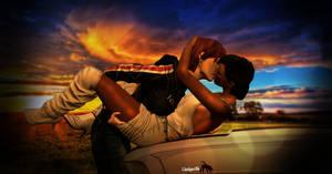 Kiss Car sunset