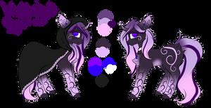 (OC) Violet Night by Luxyna-Moon