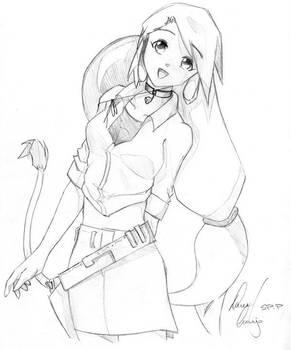 Cowgirl Josephine Sketch