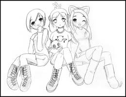 3 Girl Group Picture by sppanda
