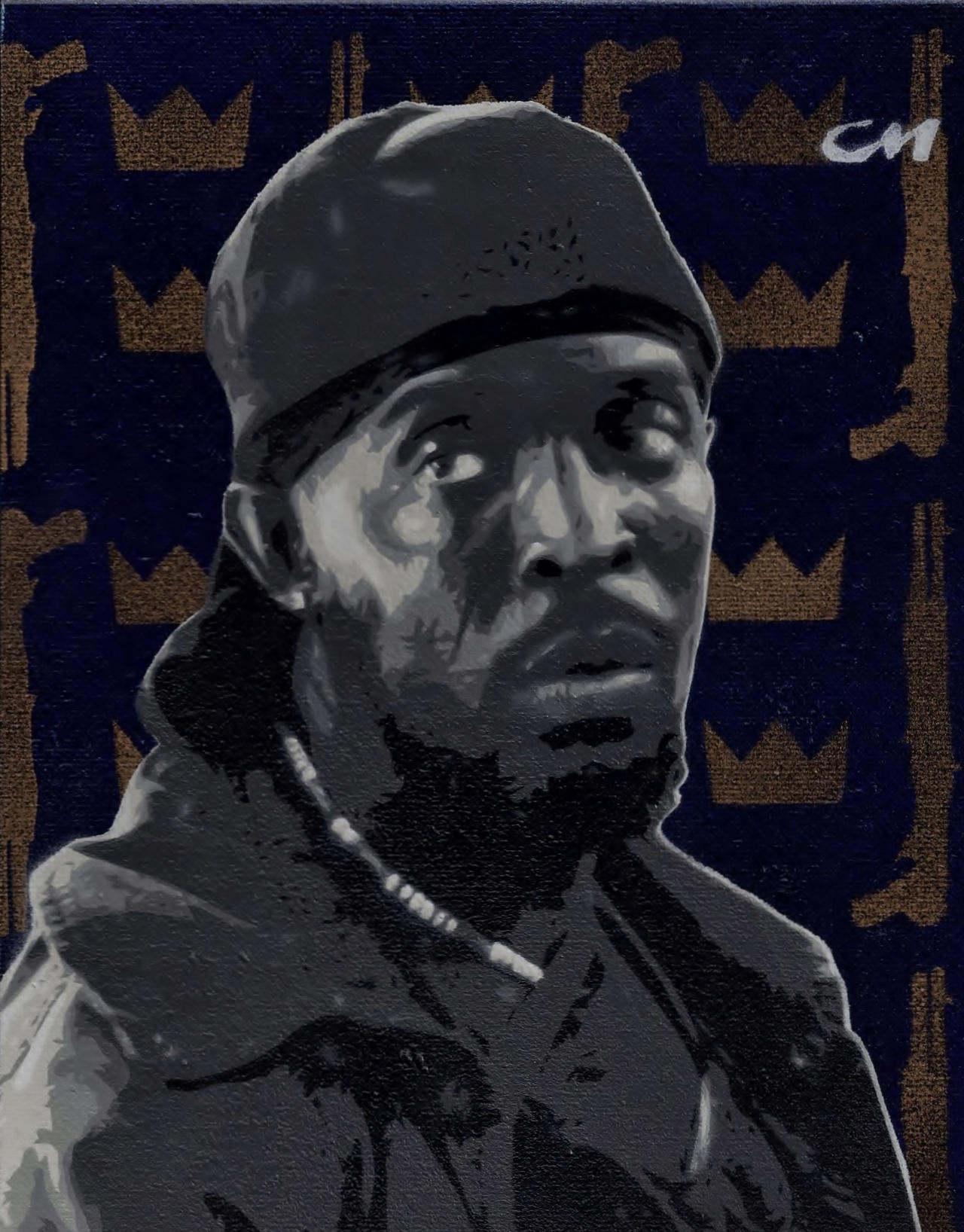 Omar Little From HBOs The Wire By Stencils Chase