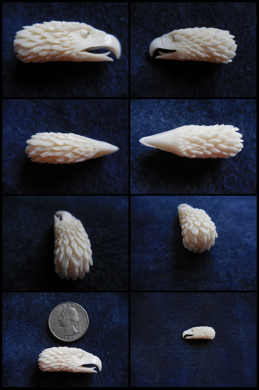Eagle Head Carved Bone By Urbanarthermit On Deviantart