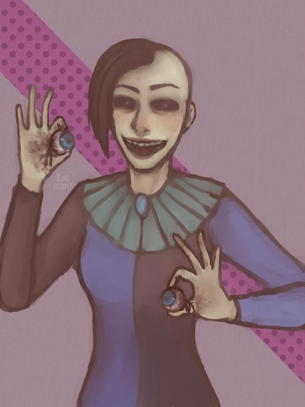 ArtTrade : Clownessa Vanessa by Rott000