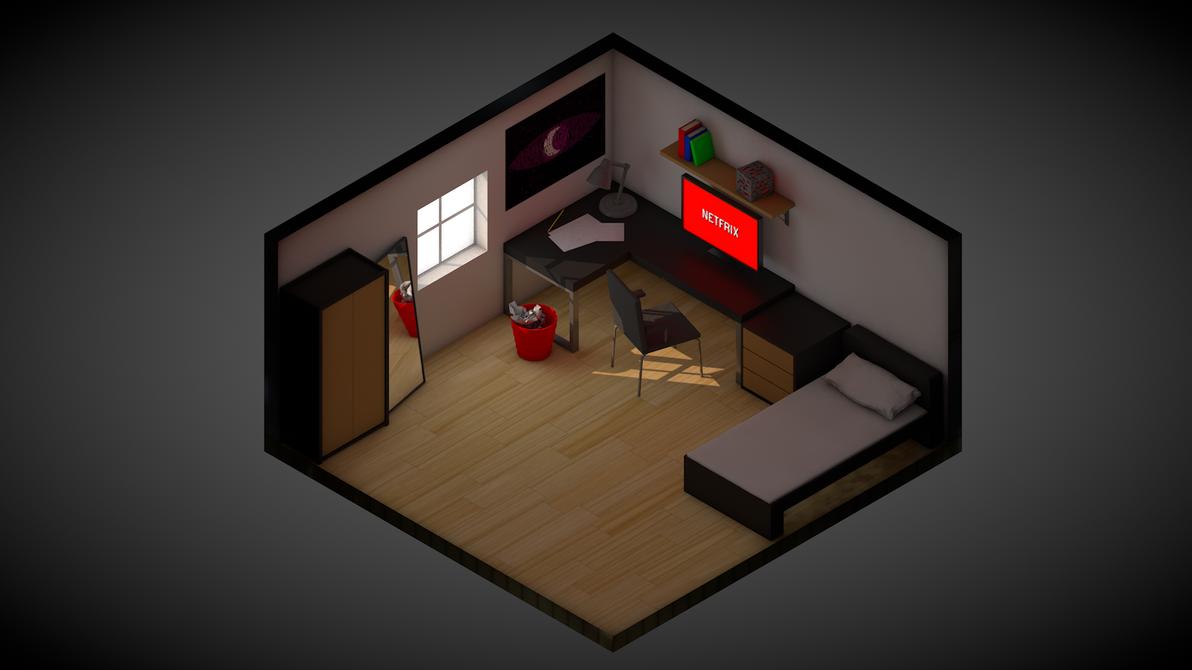 Isometric room by darkhearteddon250