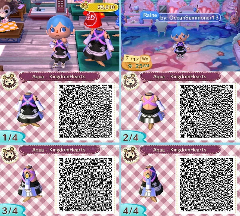 Aqua QR code pattern by OceanSummoner13