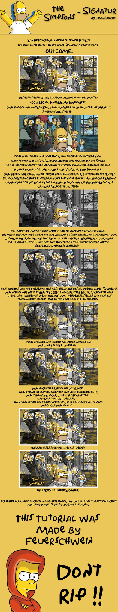 The Simpsons - Tutorial by Feuerschwein