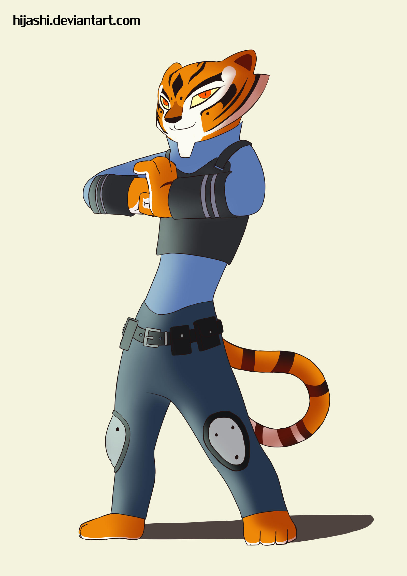 kung fu panda in zootopia tigress by hijashi on deviantart