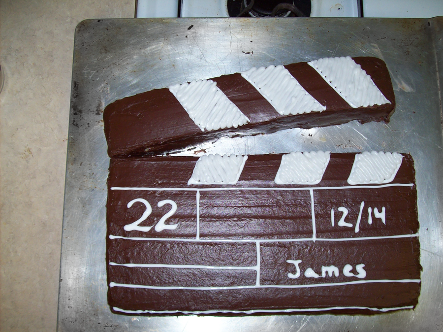 Clapper Board Cake by ~Wela-Inomae on deviantART
