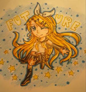 [Speedpaint video] Future style Kagamine Rin!
