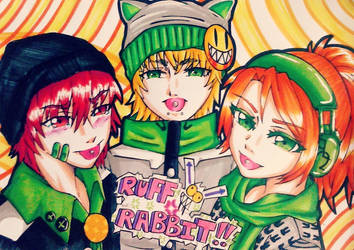Ruff rabbit trio