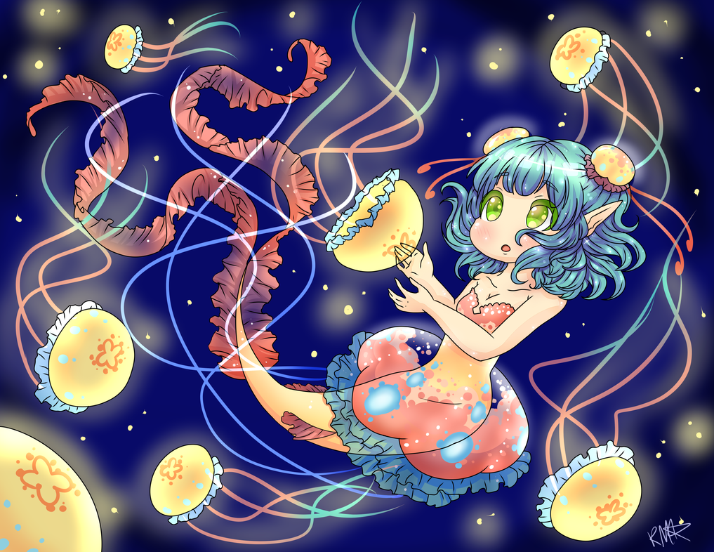 Aurita and the Jellyfishes by StarGamer01