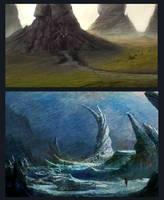 2 Landscapes by Edli