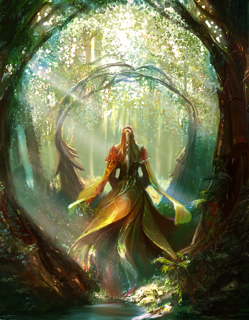 Lady in the forest by Edli