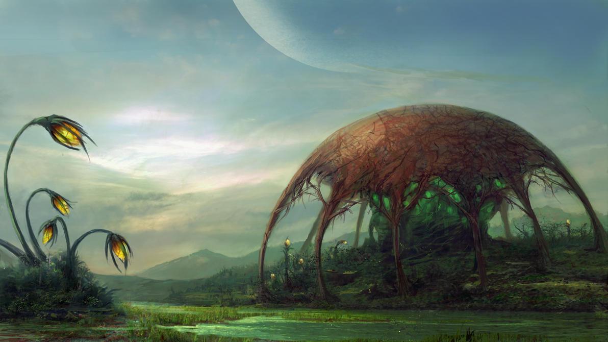 Yheukyan (wip) Alien_world_by_edli-d3a8i0h